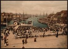 Il mercato del pesce tra il 1890 e il 1900