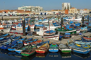 Fishing harbour in Setúbal, Portugal