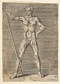 Flayed man seen from in front, holding a stick MET DP812747.jpg