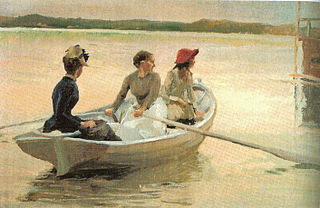 Girls in a Rowing Boat (Summer in the Archipelago)