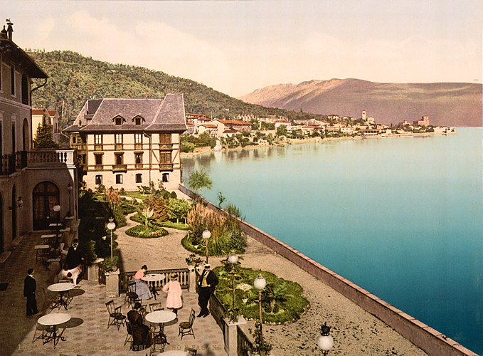 Flickr - …trialsanderrors - View from the Hotel Fasano, Fasano, Lago di Garda, Italy, ca. 1895