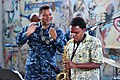 Flickr - Official U.S. Navy Imagery - A Mozambique Musician plays saxophone at the Mozambique Musicians Association..jpg