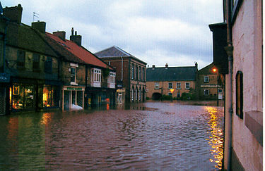 A week of extremely heavy rain in late June 2007 resulted in extensive flooding on 26 June. Floodspickering.jpg