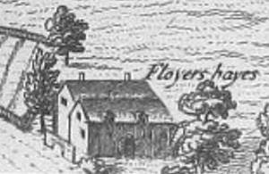 Floyer Hayes - Floyer Hayes, detail from a 1617 map of the City of Exeter in the 6th volume of Civitates Orbis Terrarum by Georg Braun (1541-1622)