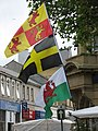Flying the Flags - a display of patriotism on a market stall - geograph.org.uk - 488221.jpg