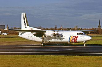 SAS Commuter - Eurolink Fokker 50 in 1994