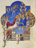 La bendición de su hijo Cristo Virgen rodeada de ángeles y santos