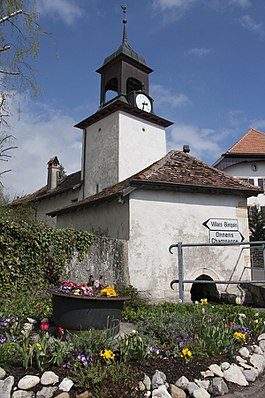 Center of the village and bell tower