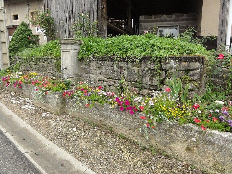 Fontenoy-la-Joûte (M-et-M) fontaine fleurie