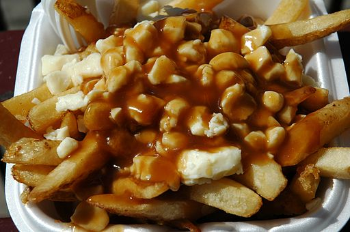Food Poutine Closeup