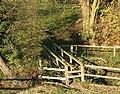 Footbridge over Penn Brook, Staffordshire - geograph.org.uk - 617272.jpg