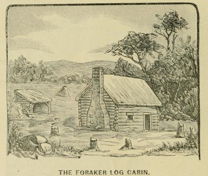 Foraker log cabin