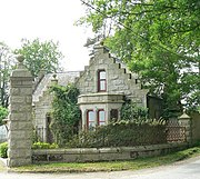 The former lodge of Carnousie Castle, near Bogton