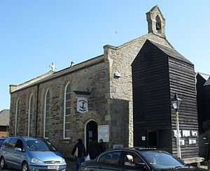 Hastings Fishermen's Museum - The building from the northwest