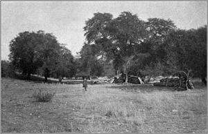 Battle of Fort Buchanan - Ruins of Fort Buchanan in 1914.