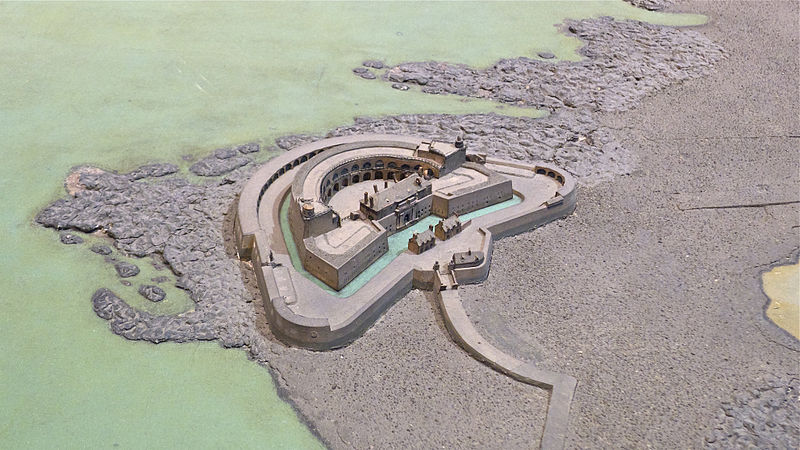 Fichier:Fort de l'ile Pelee - plan-relief 1872.jpg