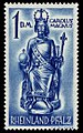 Fr. Zone Rheinland-Pfalz 1948 29 Karl der Große.jpg