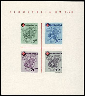 Fr. Zone Rheinland-Pfalz 1949 Block 1 B Rotes Kreuz.jpg