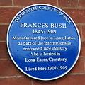 Frances Bush blue plaque.jpg