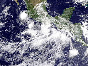 Hurricane Frank (2010) - Troical Storm Frank shortly after being named on August 22.