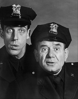 Fred Gwynne - Fred Gwynne and Joe E. Ross in Car 54, Where Are You?, 1962