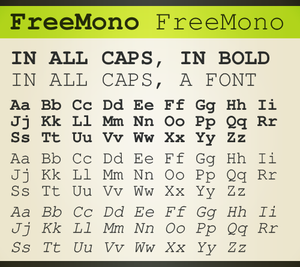 GNU FreeFont - Image: Free Mono Demonstration