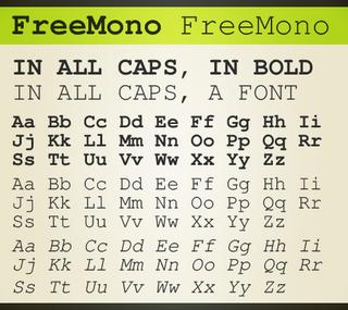 GNU FreeFont Font family