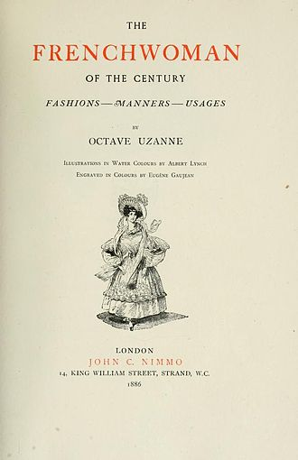 Octave Uzanne - Title page of The Frenchwoman of the Century