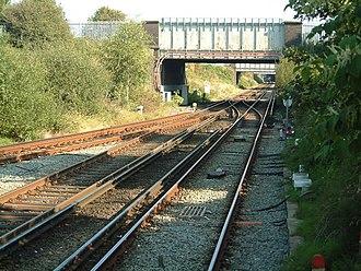 Birkenhead North railway station - Image: From Birkenhead North station platform by E Pollock