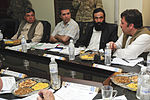 From left, Tooryalai Wesa, the provincial governor of Kandahar province, Afghanistan; Ahmad Shekib, the chief operations officer of Afghanistan's national power company, Da Afghanistan Breshna Sherkat; an 130701-A-AP855-0055.jpg