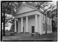 Front (east), north side - Baptist Church, State Route 61, Newbern, Hale County, AL HABS ALA,33-NEWB,2-1.tif