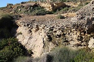 Geography of Malta - A fresh-water spring, Għajn Bierda, at Ras ir-Raħeb