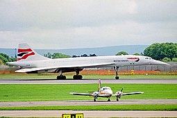 British Airwaysin Concorde