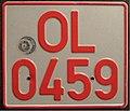 GERMANY pre EEC motorcycle dealer plate reflective - Flickr - woody1778a.jpg