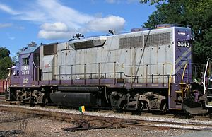 Goderich–Exeter Railway - Image: GEXR 3843 EMD GP38