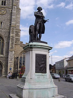 Staty av Thomas Gainsborough i Sudbury.