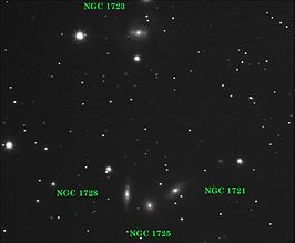 Galaxy group in Eridanus (NGC 1721, NGC 1723, NGC 1725, and NGC 1728).jpg