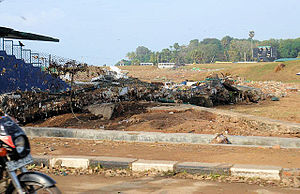Galle International Stadium - Image: Galle after tsunami