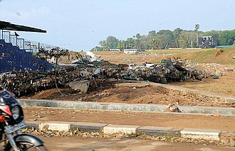 Galle International Stadium - Image: Galle after tsunami