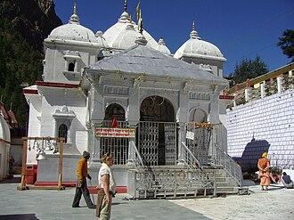 Amar Singh Thapa - Image: Gangotri temple
