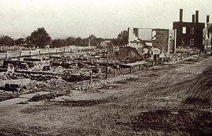 Chardon, Ohio - Main Street after the fire of 1868