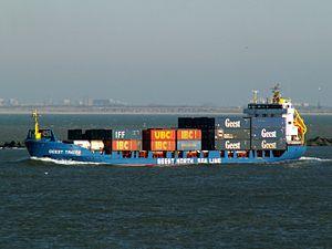Geest Trader IMO 9110535 leaving Port of Rotterdam 29-Jan-2006.jpg