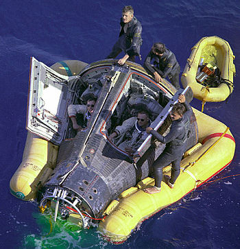 Gemini 8 during rescue