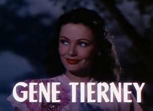 English: Screenshot of Gene Tierney from the f...