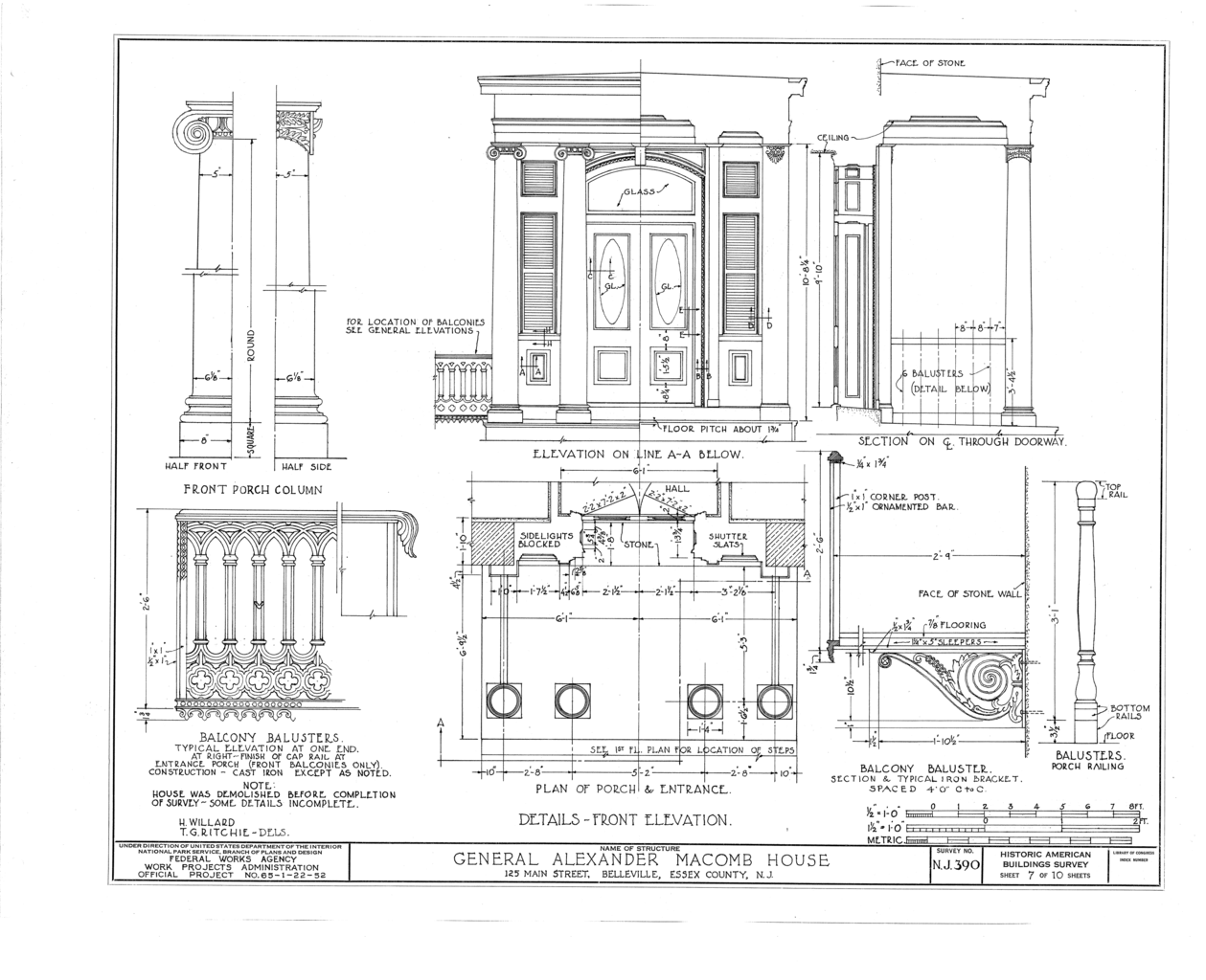 Filegeneral Alexander Macomb House 125 Main Street Belleville The Schematic For This Is Below Along With Some Construction Details Essex County Nj Habs Nj7 Belvi5 Sheet 7 Of 10