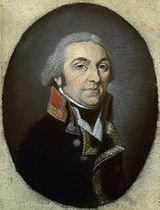 General Sahuc in dark blue uniform