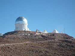 Cerro Tololo and the Blanco Telescope viewed from the summit access road