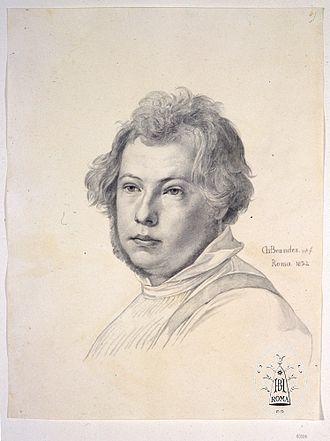 Heinrich Brandes - Self-portrait drawing by Brandes (1832)