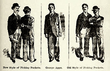 "sketch ""pickpocket"" with George Appo..."