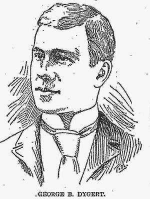 George Dygert - Portrait of Dygert from the Detroit Free Press, June 1893